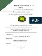 MARCO TEORICO-PRODUCCION DE DME POR DESHIDRATACION DE METANOL