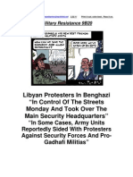 Military Resistance 9B 20:Troops Joining Libyan Revolution