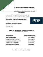 analisis de instituciones de la admon publica