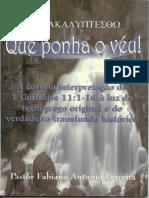 Que ponha o véu 1Co 11.1-16 - Pr. Fabiano Ferreira