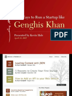 How to Run a Startup Like Genghis Khan