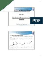 Isostática - Equilíbrio de Uma Partícula