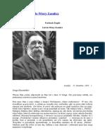 F. Engels – List Do Wiery Zasulicz