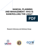 Lgu Financial Planning and Management Who is Bankrolling the Lgus