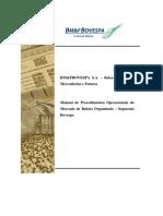 Manual de Procedimentos Operacionais Mercado de Balcão