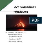 Erupções Vulcânicas Históricas - Ciências Naturais