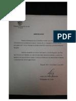 Carta embajada de Cuba