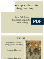 Education, Learning, Language and Teaching 1st