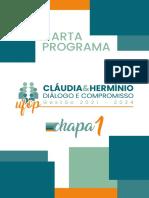 Carta Programa_Cláudia e Hermínio_Chapa 1_Diálogo e Compromisso