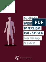 Manual de Orientações da Resolução CSJT 141%2F2014