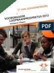 Universiteit Van Johannesburg Loopbaanprospectus AFRIKAANS - 2012