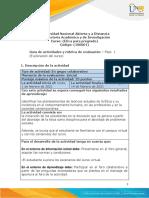 Guía de Actividades y Rúbrica de Evaluación - Unidad 1 - Fase 1 - Exploración Del Curso