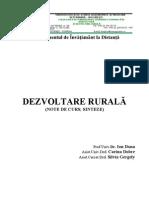 Dezvoltare Rurala - Note de Curs, Sinteze