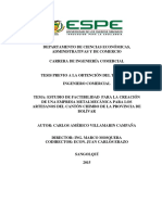 estudio de factibilidad para creacion de empresa metalmecanica