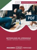 UNIDAD II - CONTENIDO_METODOLOGÍA APRENDIZAJE