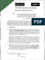 RESOLUCION N°2024-2019-TCE-S3 (RECURSO APELACION)