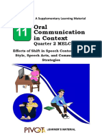 SLM Oral Communication MELC 9
