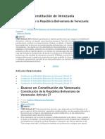 Buscar en Constitución de Venezuela