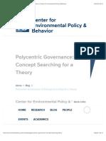 Polycentric Governance