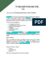CURSO FUNDAMENTOS DE ITIL V4