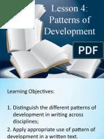 Lesson 4 Patterns of Development