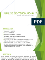 DIAPOSITIVAS ANALISIS SENTENCIA U049