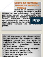 PRESUPUESTO DE MATERIA PRIMA (COMPRA DE MATERIA)