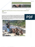 Burma Army Burns 23 Homes and Chases Families in Southern Karen State