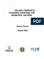 Archipelagic Principle Towards Charting of the Municipal Waters