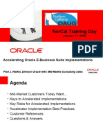 Accelerating Oracle E-Business Suite Implementations
