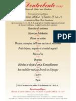 Affiche Doutrebente 27-01-2006