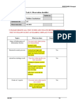 Task 4 -Observation checklist-MUST COMPLETE AND SUBMIT