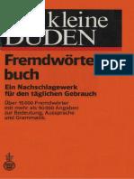 Der Kleine Duden Fremdw 246 Rterbuch