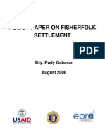 Policy Paper on Fisherfolk Settlement