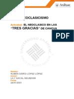 El Neoclasicismo Las Tres Gracias (1)
