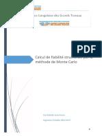 reflexion strategique_Calcul de fiabilité structurale par la méthode de Monte Carlo