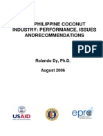 The Philippine Coconut Industry Performance, Issues and Recommendations