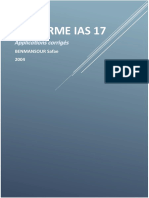 Applications IAS17