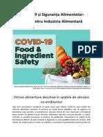 COVID-19 și Siguranța Alimentelor - Vitrine alimentare deschise în spațiile de vânzare cu amănuntul