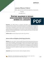 Blanco Falero _Entre madres e hijas