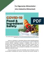 COVID-19 și Siguranța Alimentelor