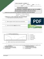 Teste 7º Ano Geografia Meio Natural