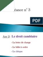 Droit cambiaire -Lettre de change - séance 3