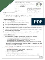 Fiscalité- Rattrapage- 2019 énoncé solution