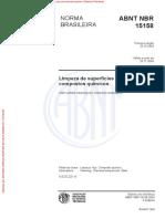 ABNT NBR 15158 Limpexa de superfícies de aço por compostos químicos