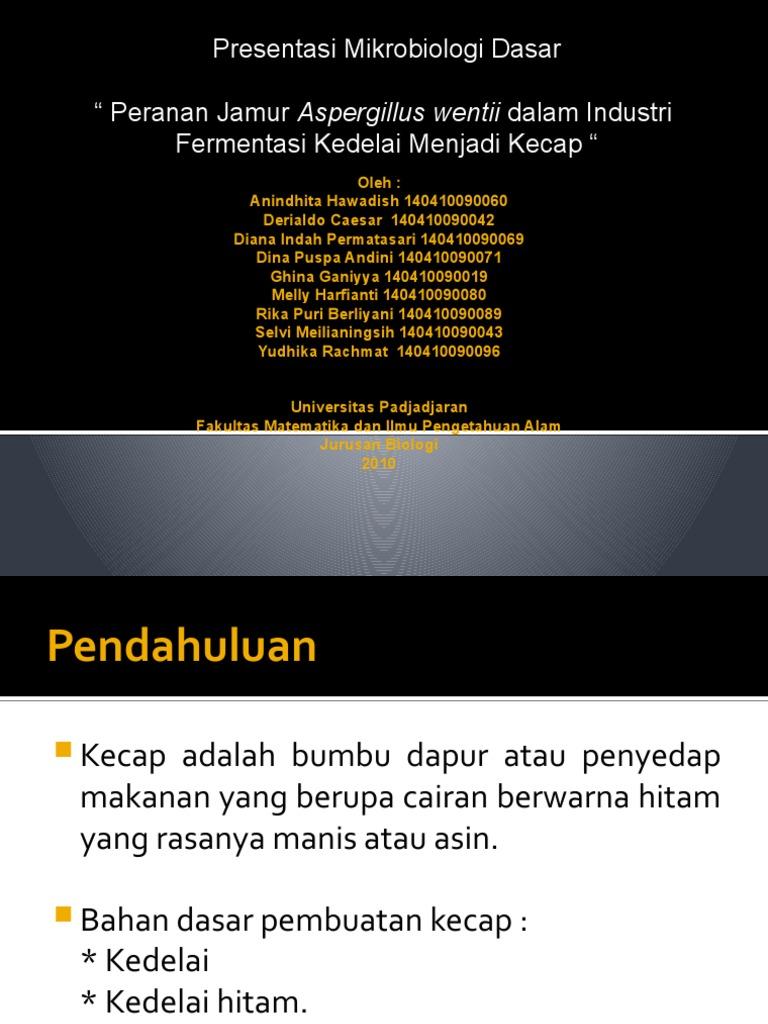 Gambar Kunci Jawaban Jamur Aspergillus Wentii Berperan ...