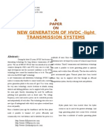 NEW GENERATION OF HVDC -light TRANSMISSION SYSTEMS