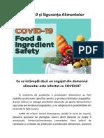 COVID-19 și Siguranța Alimentelor - Ce se întâmplă dacă un angajat din domeniul alimentar este infectat cu COVID19?