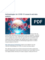 Methodologies for COVID-19 Research and Data Analysis