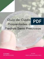 Guía de Cuidado Para Tus Piedras Semi Preciosas